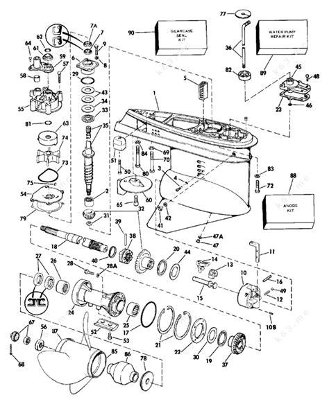 Johnson 1987 150 J150gtlcur Gearcase Parts Catalog