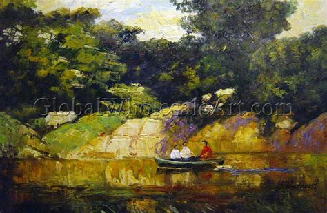 boating in central park painting edward henry potthast boating in central park oil