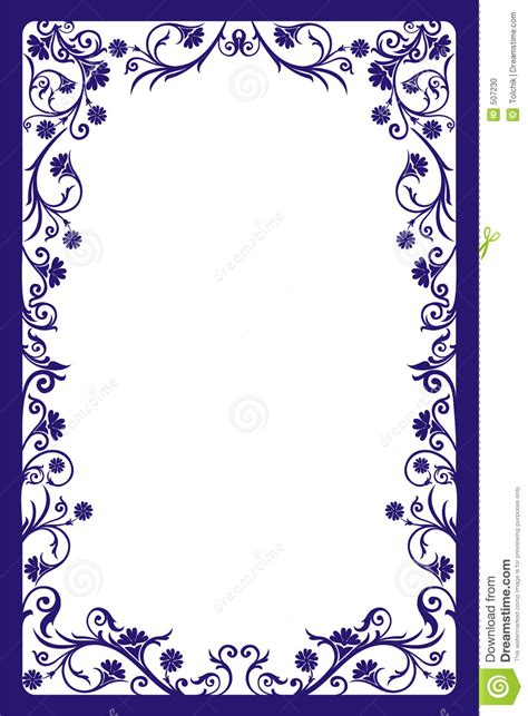 how to create a vector decorative frame in illustrator decorative frame vector stock vector image of floral