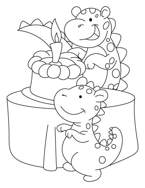 birthday dinosaur coloring page birthday card coloring pages coloring home