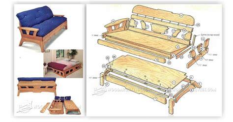 Futon Plans by Futon Sofa Bed Plans Woodarchivist