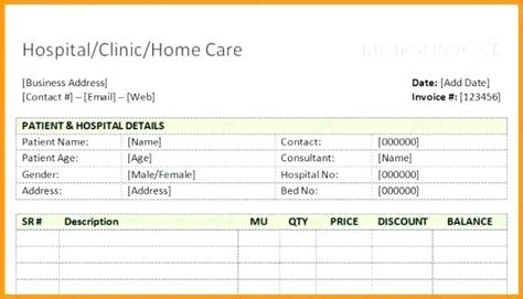 hospital receipt template word hospital receipt template hospital bill kinoroom club