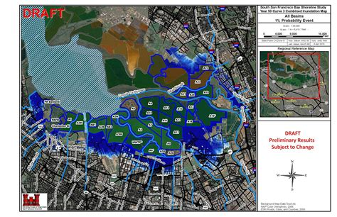 san francisco inundation map south bay shoreline visuals