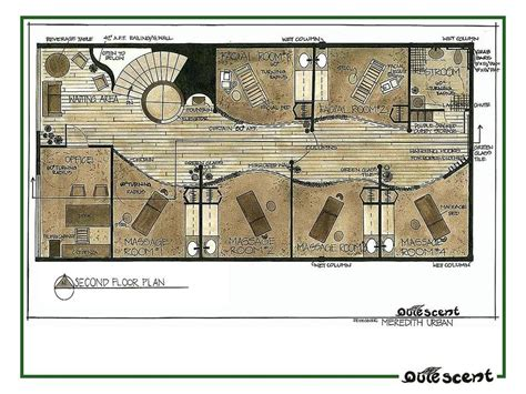 day spa floor plans portfolio by meredith urban van veen at coroflot com
