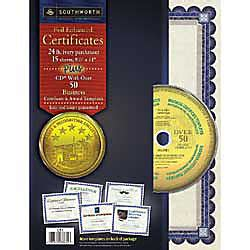 Southworth Awardcertificate Paper Templates Ivory With Blue Border Pack Of 15 By Office Depot Southworth Templates