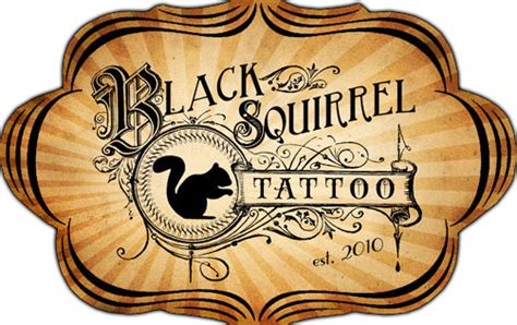 black squirrel tattoo omaha black squirrel black squirrel custom