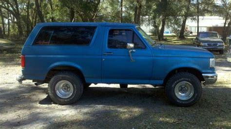how to sell used cars 1990 ford bronco interior lighting sell used 1990 ford bronco custom sport utility 2 door 5 0l police package ex fwc vehicle in