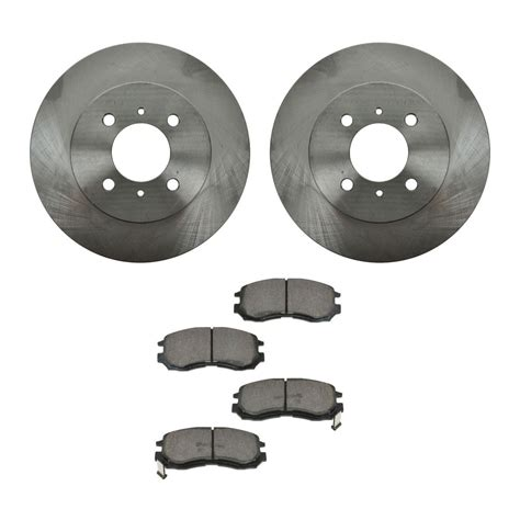 Brake Pad Mitsubihi Kuda front organic brake pads rotors set kit for mitsubishi mirage ebay