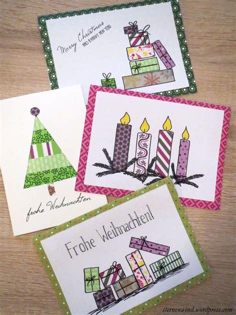 Advent Basteln Mit Kindern 3034 by Diy Weihnachtskarten Mit Washitape Und Motivpapier