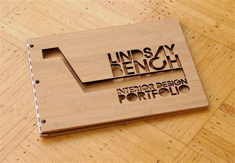 Handmade Portfolio Book - custom bamboo interior design portfolio book
