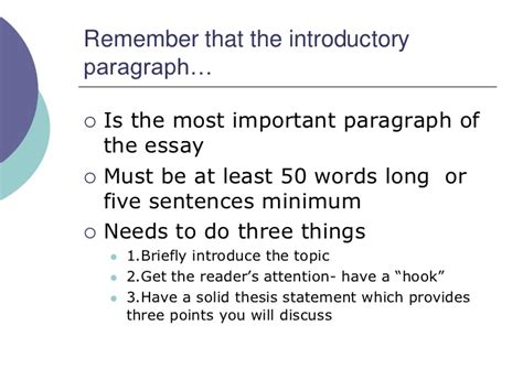 Intro Paragraph For Essay by How To Write An Introductory Paragraph