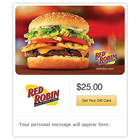 Red Robin E Gift Card - red robin gift cards e mail delivery