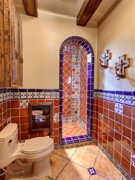 mexican tile bathroom home design ideas pictures remodel