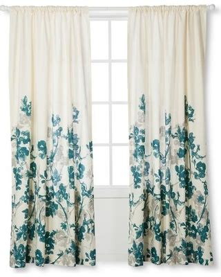 teal blue curtains drapes bargains on threshold climbing vine curtain panel teal
