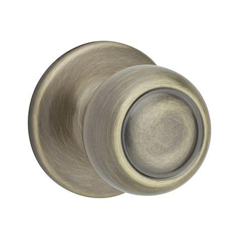 Lowes Door Knobs by Shop Kwikset Signature Copa Antique Brass Dummy Door Knob At Lowes
