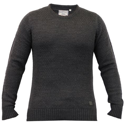 Sweater Brave mens knitted sweater pullover jumpers by brave soul
