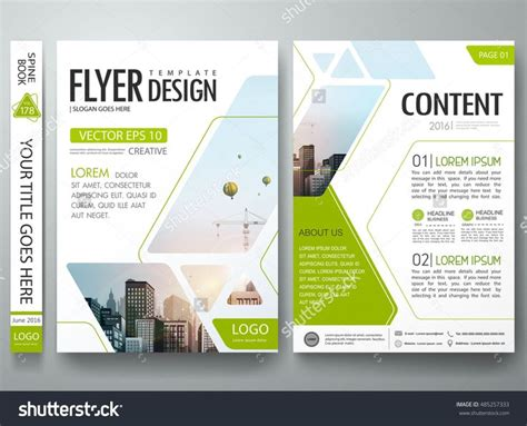book brochure template brochure design template vector green abstract square