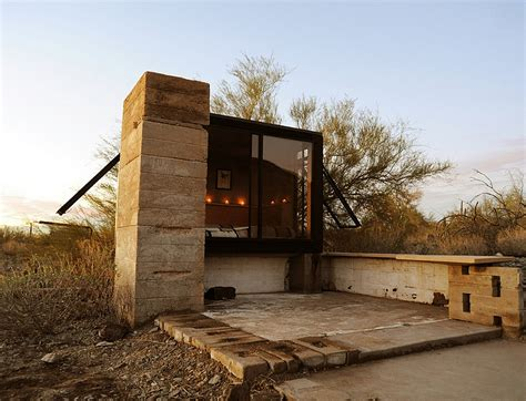Shelter Cabin by Miner S Shelter Tiny Desert Dwelling Clad In Glass And Steel