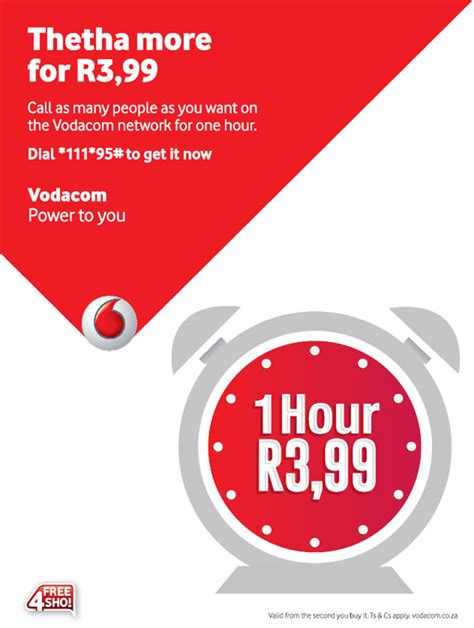 vodacom advert r3 99 for 60 minutes from vodacom