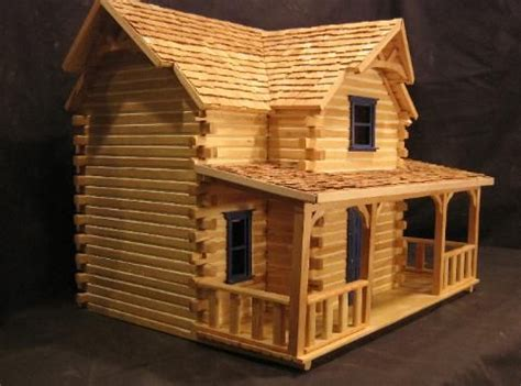logcabin doll house plans popsicle stick houses doll house