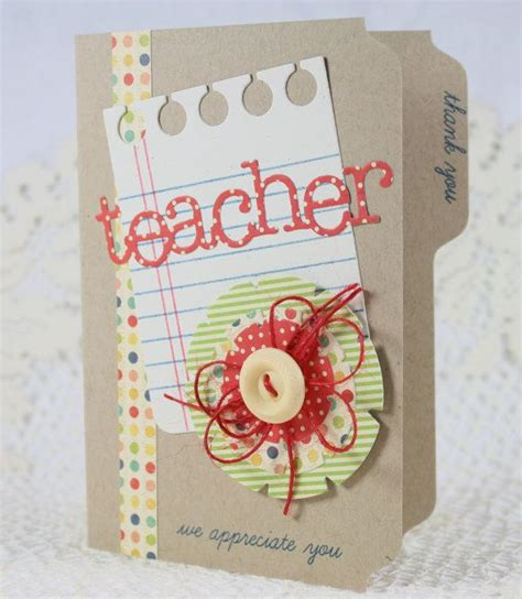 Handmade Birthday Cards For Teachers - handmade greeting card appreciation my own