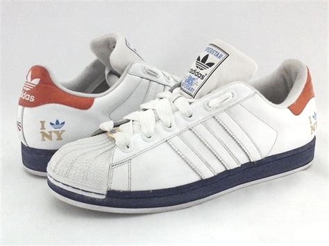 adidas superstar  york  love ny whiteblue sneakers