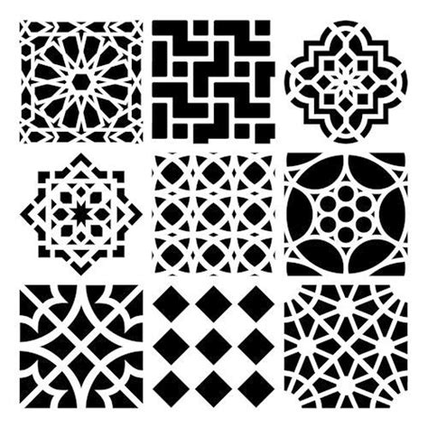 moroccan shapes templates moroccan stencil printable moroccan printable template house moroccan