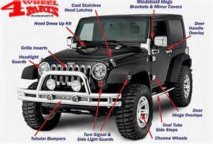 jeep wrangler jk accessories stainless chrome 4 wheel parts