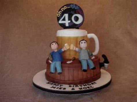 40th Fondant Birthday cake with Beer Theme   YouTube