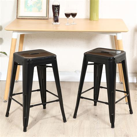 Silver Counter Height Stools by Set Of 2 Metal Bar Stool Counter Height Home 24 Quot 26 Quot 30