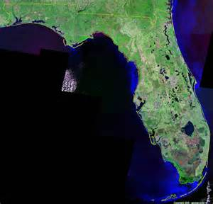 satellite florida map florida satellite images landsat color image