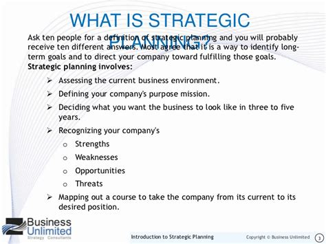 strategic planning what is strategic planning introduction to strategic planning