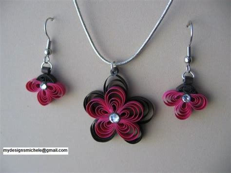Paper Jewellery Ideas - my designs paper crafts quilled jewelry