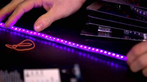 uv led light phobya uv led strips unboxing look linus tech tips