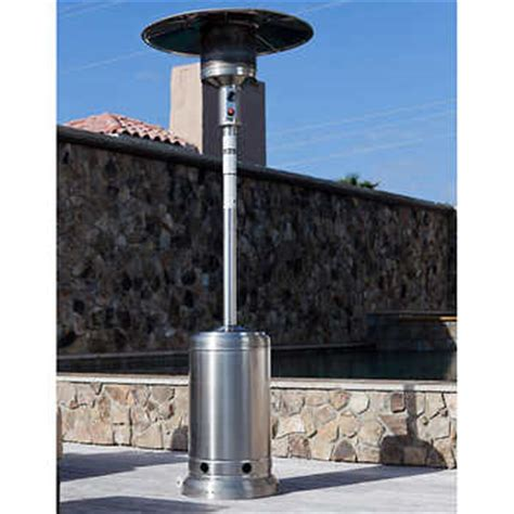 Stainless Steel 46 000 Btu Commercial Patio Heater Costco Patio Heaters