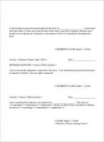 air letter template letter of counseling exle best business template