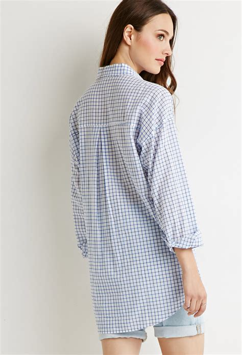 oversized shirt pattern forever 21 contemporary oversized grid pattern shirt in