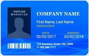 how to design id card in ms word ms word photo id badge templates for all professionals