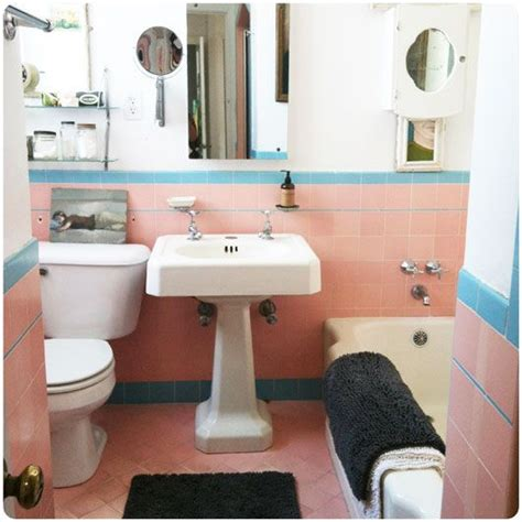Love The Retro Color Combo And The Sink Great Bathroom Light Pink Bathroom