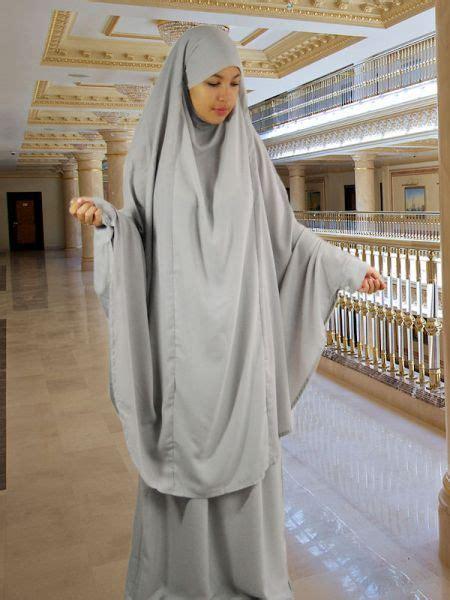 Gamis Murah Set Khimar 6 set khimar rock light grey overhead abaya