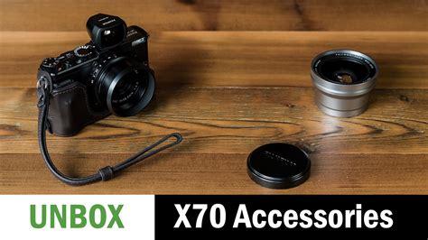 fuji accessories unboxing fujifilm x70 accessories