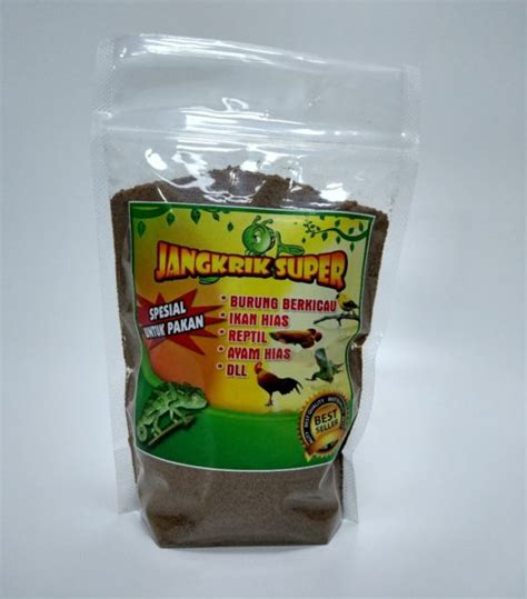 Harga Pakan Burung Jangkrik tepung jangkrik pakan reptil murah kemasan 200 gram
