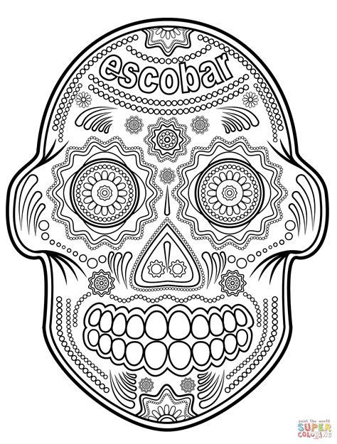 Skulls Coloring Book free printable sugar skull coloring pages