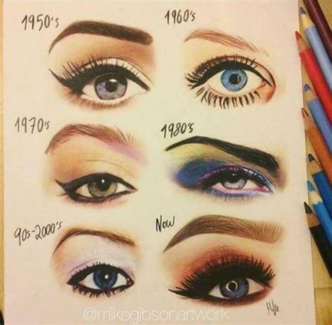 eyebrow fashions throughout the decades 1950 makeup trends mugeek vidalondon
