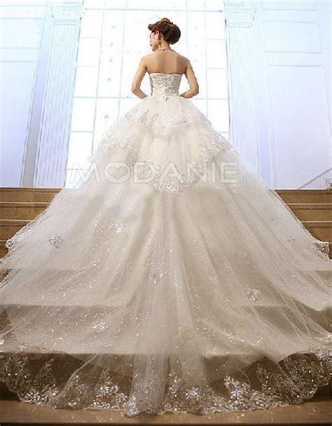 Robe De Mariée Princesse Bustier Paillette - robe de mari 233 e sur mesure princesse luxe bustier paillette