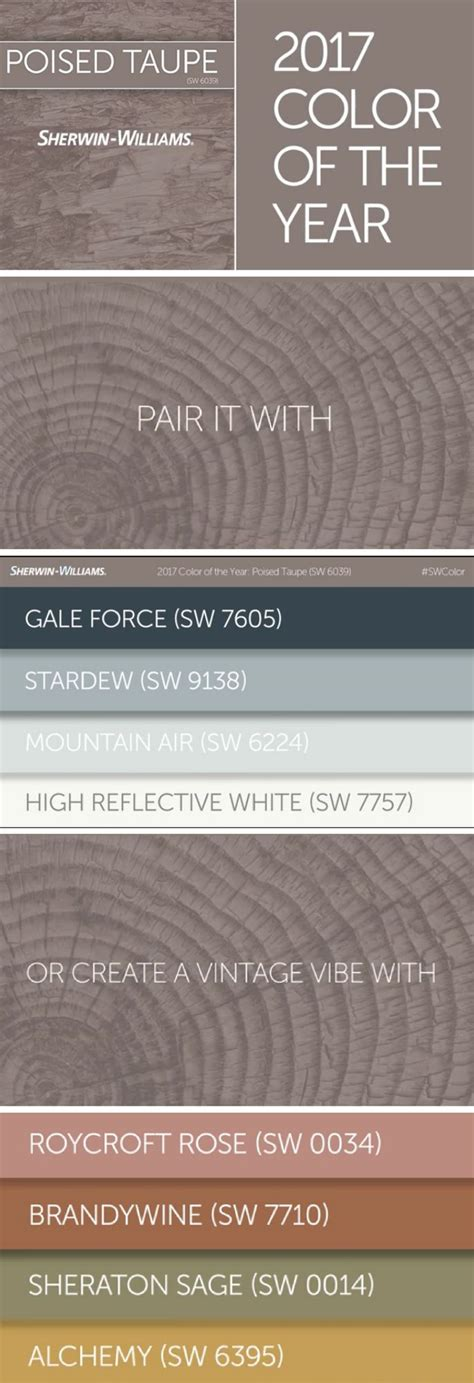 sherwin williams poised taupe color palette best 25 taupe color schemes ideas on pinterest
