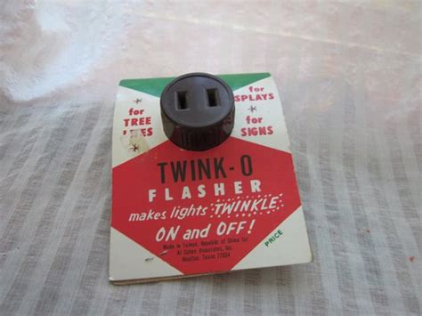 blinker for christmas lights vintage o flasher light by mendozamvintage