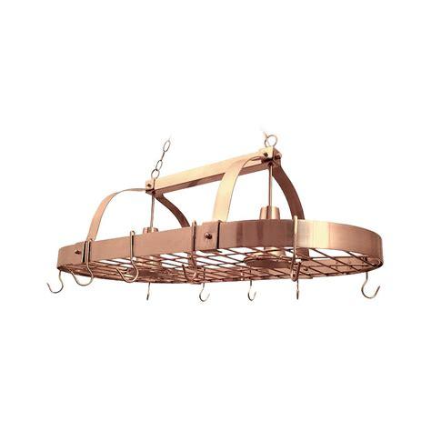 Copper Pot Rack With Lights Designs 2 Light Copper Kitchen Pot Rack Light With