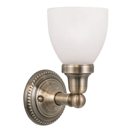 antique brass light fixtures bathroom livex lighting 1021 classic 1 light bathroom vanity