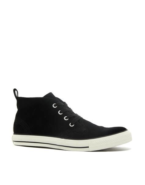 converse all berkshire suede chukka boots in black